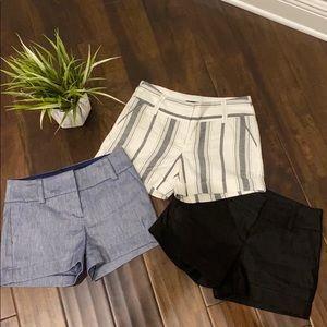 3- Express Linen Midi Shorts 💗 Sz 00